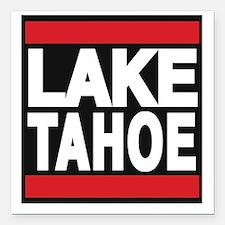 """lake tahoe red Square Car Magnet 3"""" x 3"""""""