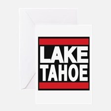 lake tahoe red Greeting Card