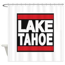 lake tahoe red Shower Curtain