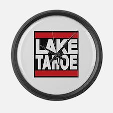 lake tahoe red Large Wall Clock
