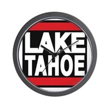 lake tahoe red Wall Clock