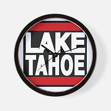 lake tahoe red Wall Clock