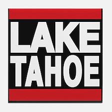 lake tahoe red Tile Coaster
