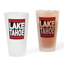 lake tahoe red Drinking Glass