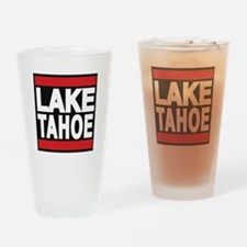 lake tahoe red Drinking Glass