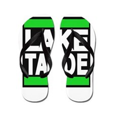lake tahoe green Flip Flops
