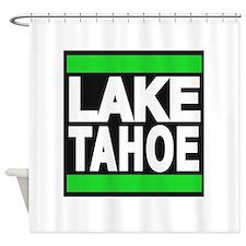 lake tahoe green Shower Curtain