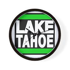 lake tahoe green Wall Clock