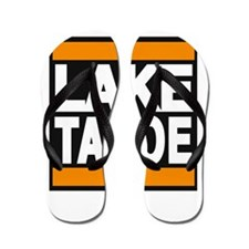lake tahoe orange Flip Flops