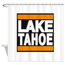 lake tahoe orange Shower Curtain