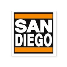 sandiego orange Sticker