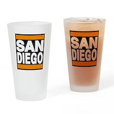 sandiego orange Drinking Glass