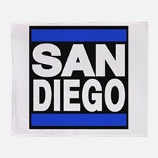 sandiego blue Throw Blanket