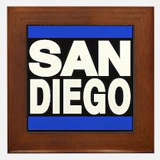 sandiego blue Framed Tile