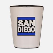 sandiego blue Shot Glass