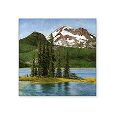 "Cute Sparks lake Square Sticker 3"" x 3"""