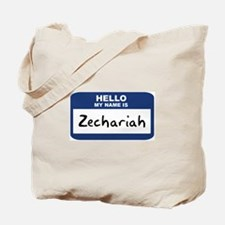 Hello: Zechariah Tote Bag