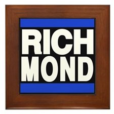 richmond blue Framed Tile