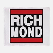 richmond red Throw Blanket
