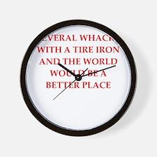 tire iron Wall Clock