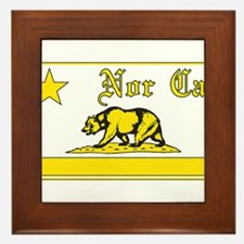 nor cal bear yellow Framed Tile