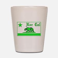 nor cal bear green Shot Glass