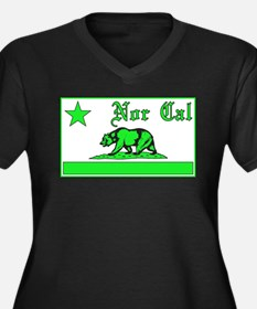 nor cal bear green Plus Size T-Shirt