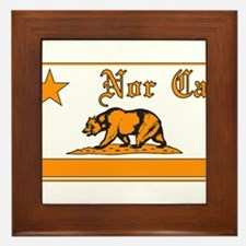 nor cal bear orange Framed Tile