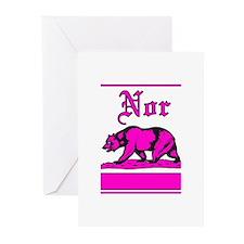 nor cal bear pink Greeting Cards (Pk of 20)