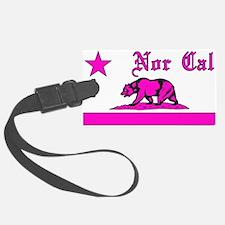 nor cal bear pink Luggage Tag
