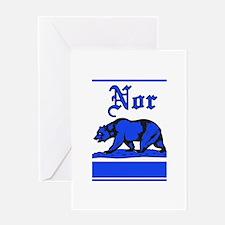 nor cal bear blue Greeting Card