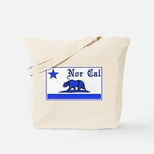 nor cal bear blue Tote Bag