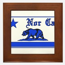 nor cal bear blue Framed Tile