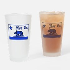 nor cal bear blue Drinking Glass