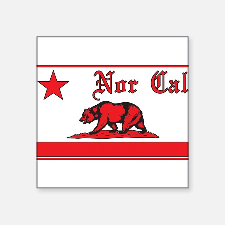 nor cal bear red Sticker