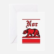 nor cal bear red Greeting Card