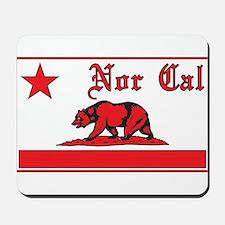 nor cal bear red Mousepad