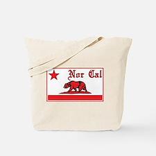 nor cal bear red Tote Bag