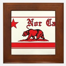 nor cal bear red Framed Tile