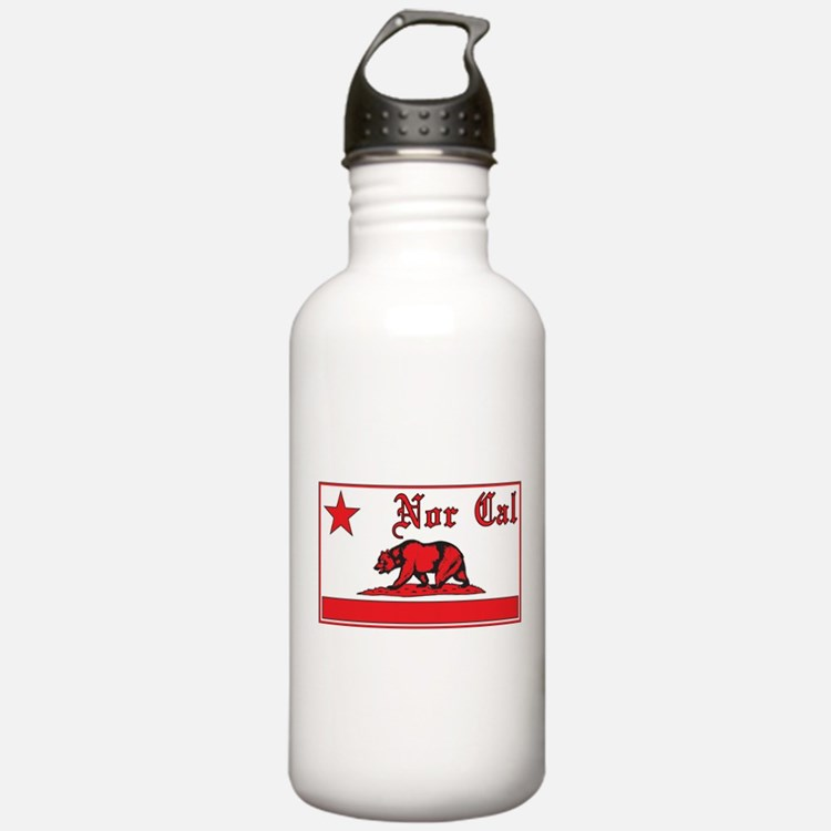 nor cal bear red Water Bottle