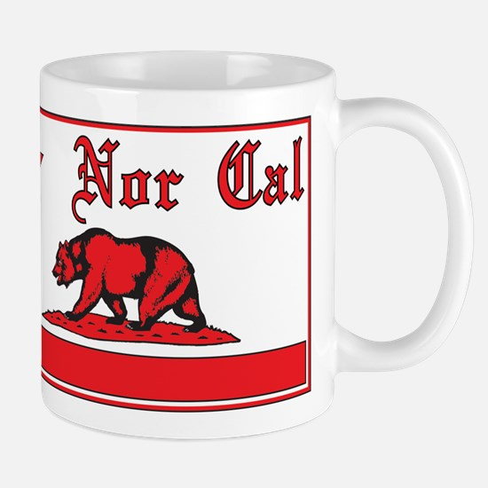 nor cal bear red Mug