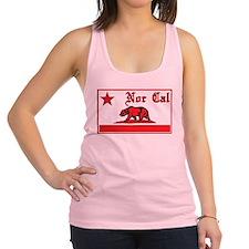 nor cal bear red Racerback Tank Top
