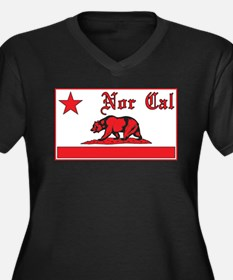 nor cal bear red Plus Size T-Shirt