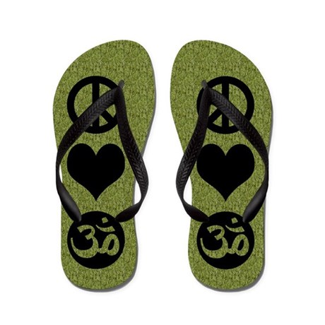 Peace Love Yoga Flip Flops