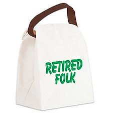 Retired Folk Canvas Lunch Bag