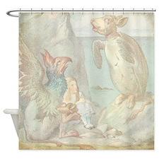 Alice in Wonderland Animals Shower Curtain