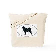 Finnish Spitz Silhouette Tote Bag