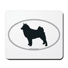 Finnish Spitz Silhouette Mousepad