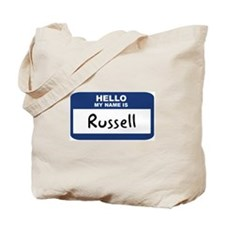Hello: Russell Tote Bag