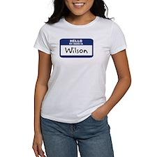 Hello: Wilson Tee
